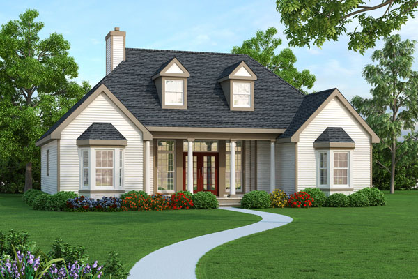 ranch house plans small house plans empty nester house plans affordable house plans - House Designers